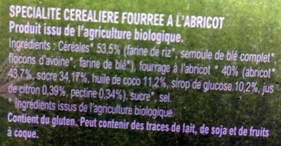 Croc'abricot - Ingredients - fr