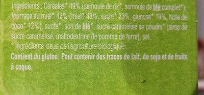 Croc'miel - Ingredients - fr