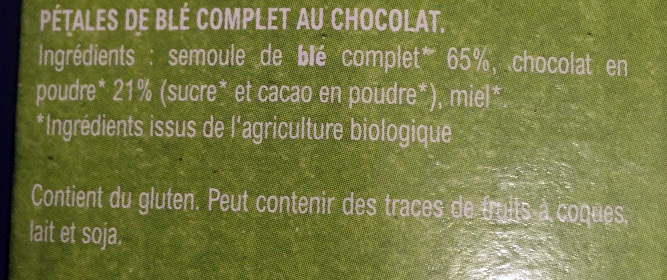 Pétale Choc - Ingredients - fr