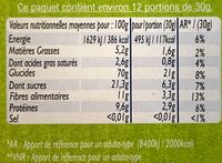 Pétale Choc - Nutrition facts - fr