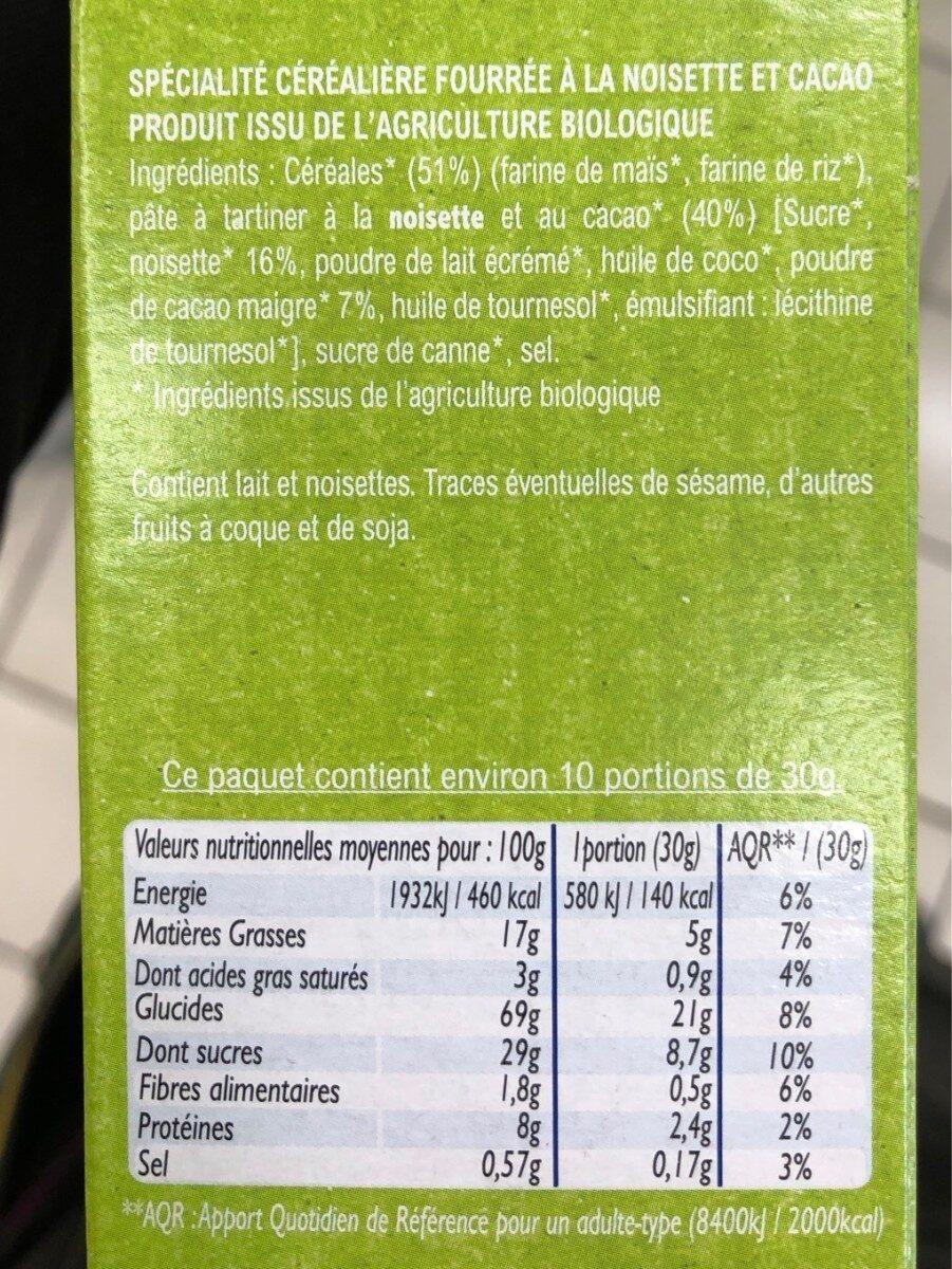 Croc noisette - Nutrition facts - fr