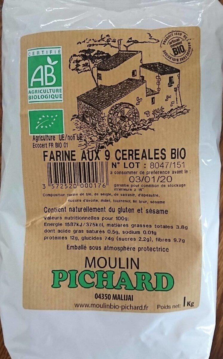 Farine aux 9 céréales bio - Nutrition facts