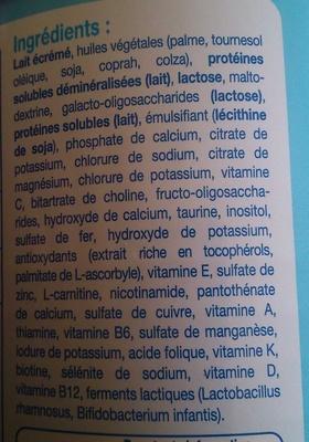 Doucéa Lait de suite - Ingredienti - fr