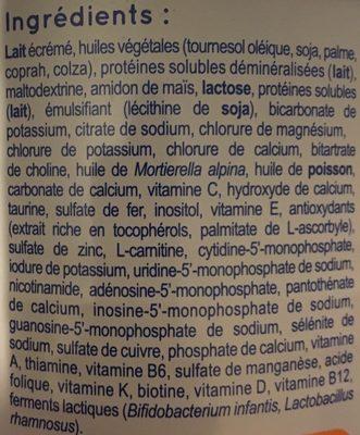 Modilac Expert Oéba 1 De 0 À 6 Mois - Ingrédients