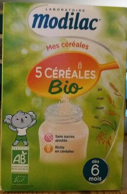 Modilac 5 Cereales Bio - Product - fr