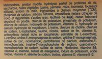 Mon 1er Dessert Sans Lait - Saveur Caramel - 12 Sachets - Modilac - Ingrédients