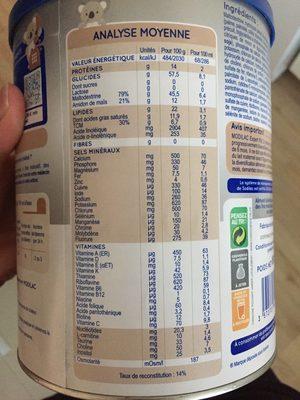 Modilac expert riz (6-12 mois) - Informations nutritionnelles