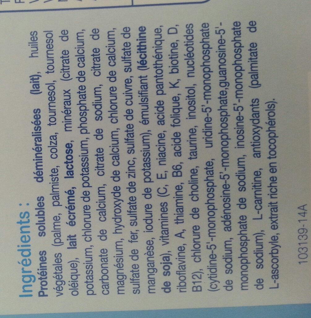 L'allaitement maternel - Ingrediënten - fr