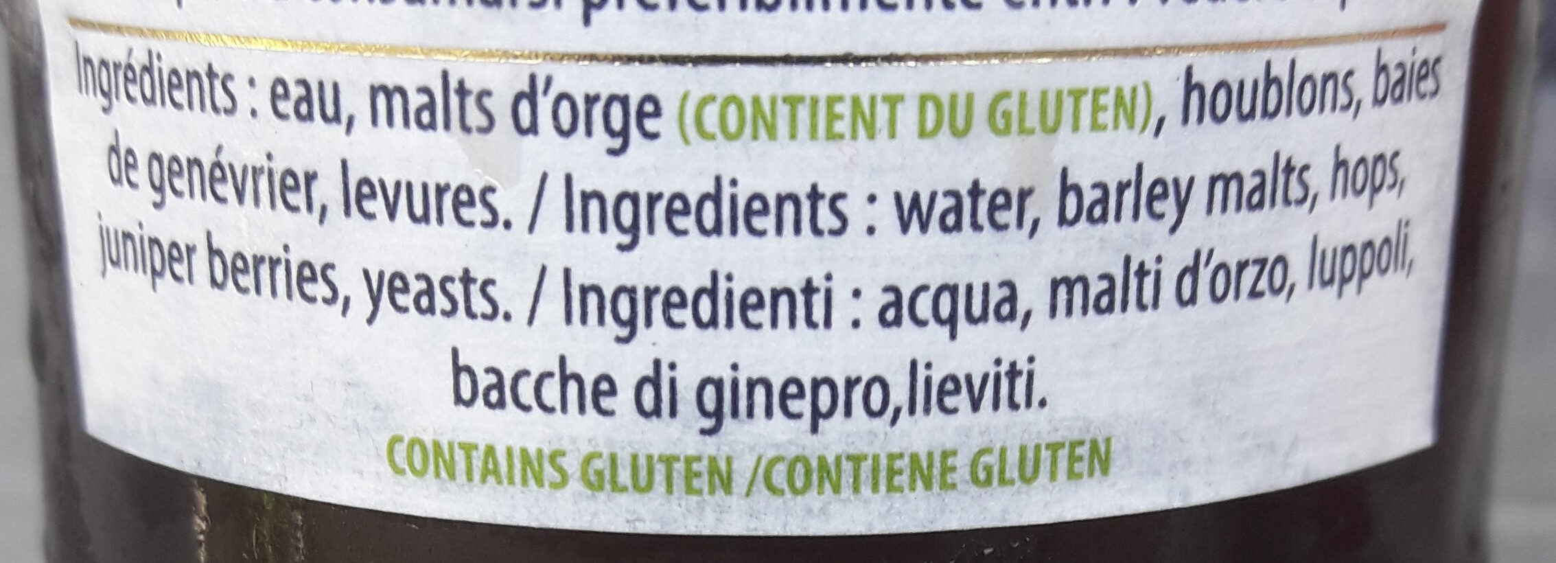 Estaminet - Ingredients - fr