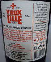Vieux Lille rousse - Ingredients - fr