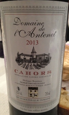 Cahors 2013 - Product