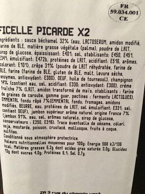 Ficelles picardes - Ingrédients - fr