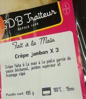 Crêpes jambon - Produit - fr