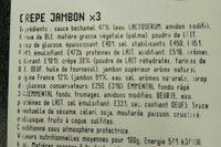 Crêpes jambon - Ingrédients - fr