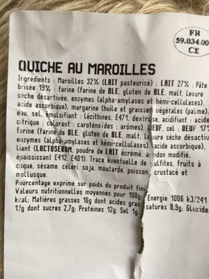 Quiche au Maroilles - Ingrediënten