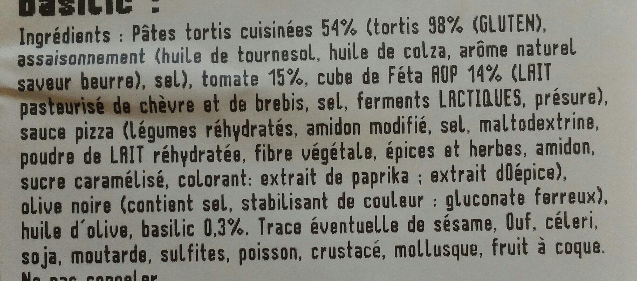 Salade de Pâtes tomate feta basilic - Ingrédients