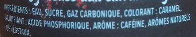 Jura Cola - Ingredienti - fr