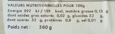 Glace Passion Jampi 550ML - Ingredients - fr