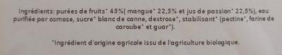 Tropical (Mangue-Passion) - Ingredienti - fr
