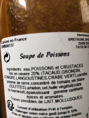Soupe de poisson - Ingredientes - fr