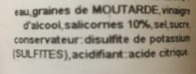 Moutarde à la Salicorne - Ingrédients