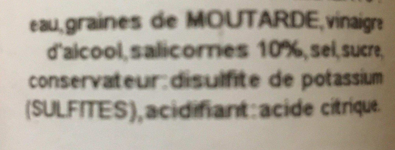Moutarde à la Salicorne - Ingrédients - fr