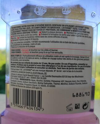 Listerine Total Care - Ingrédients - fr