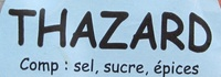 Thazard Fumé des Antilles - Ingrédients - fr