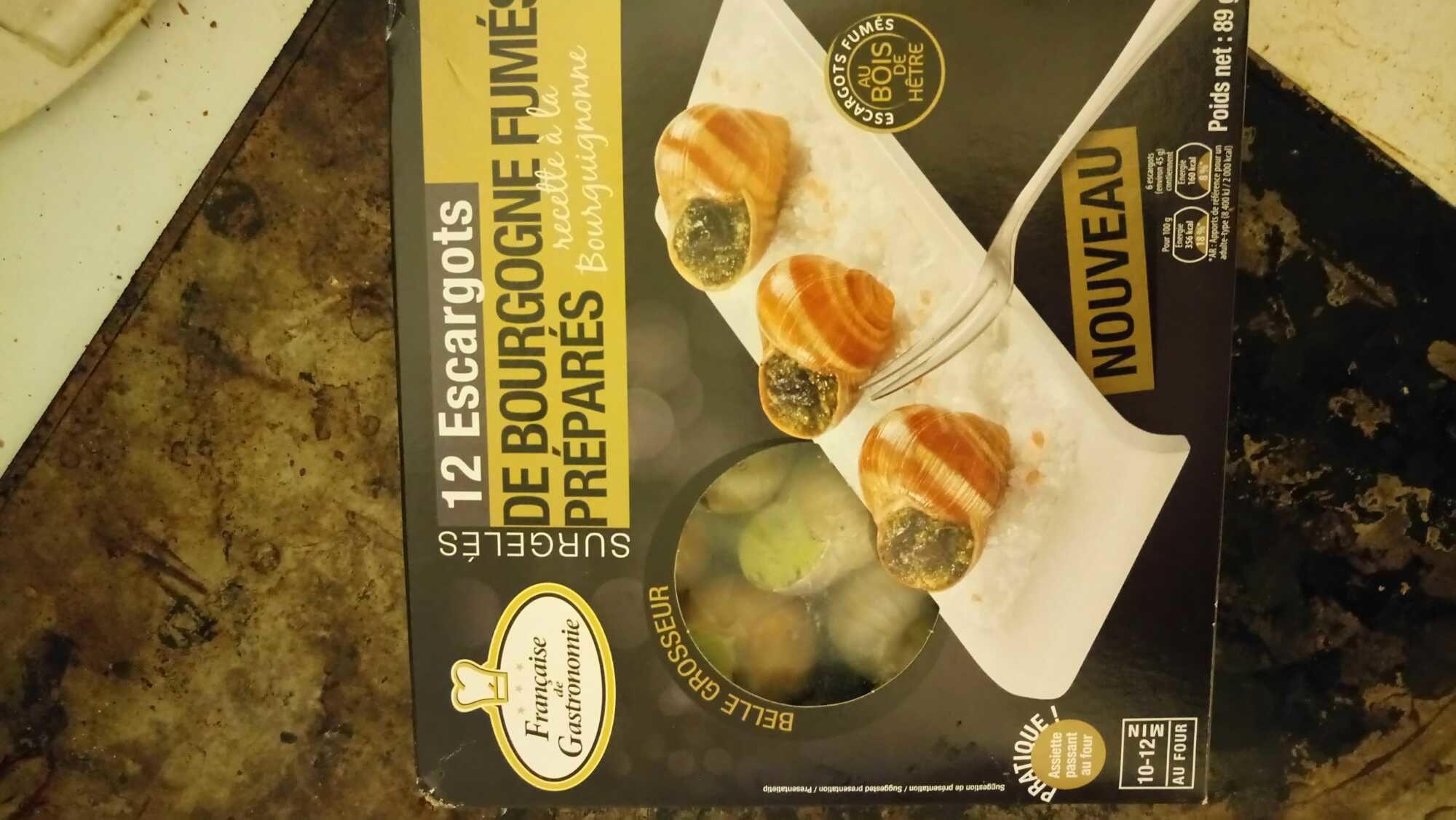 12 escargots de Bourgogne fumés préparés - Product - fr