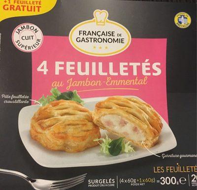 4 Feuilletés Jambon Emmental (+ 1) - Produit - fr
