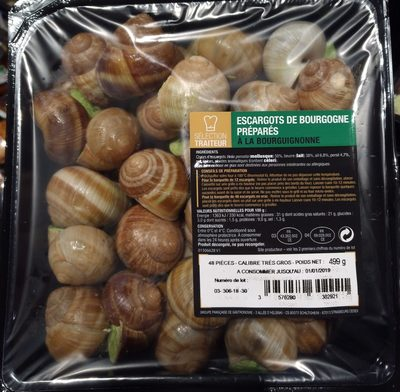 Escargots de Bourgogne préparés à la bourguignonne - Product