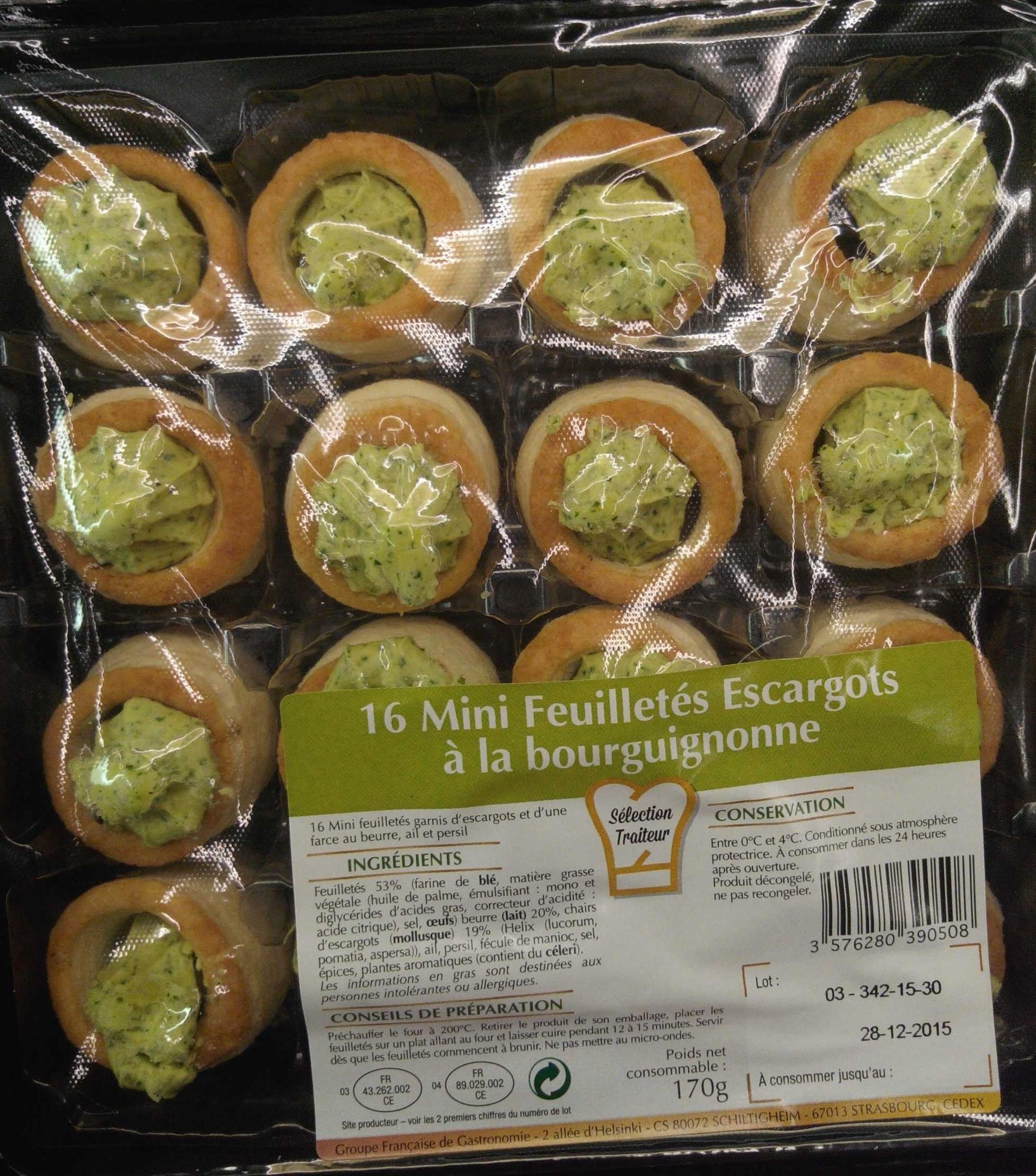16 mini feuilletés escargots à la bourguignonne - Product - fr