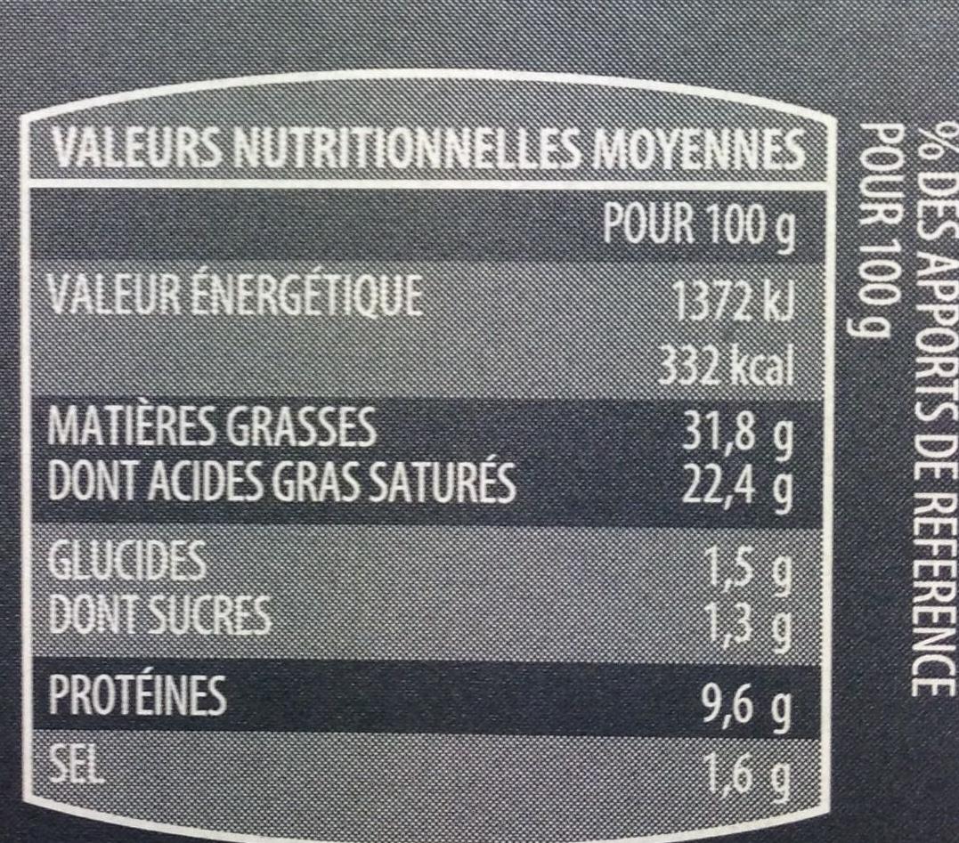 12 escargots de Bourgogne à la bourguignonne surgelés - Voedingswaarden - fr
