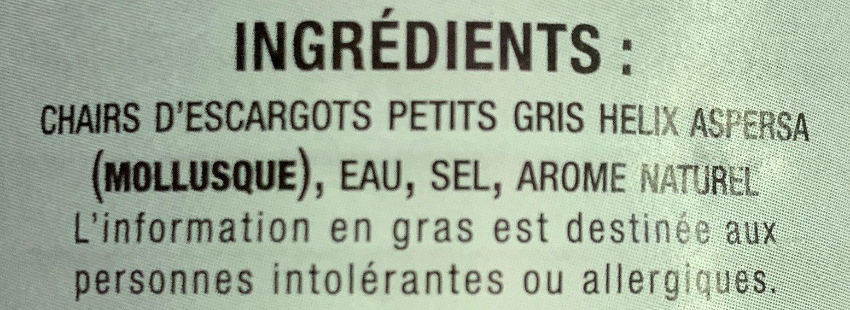 Escargots Petits-Gris - Ingrédients - fr