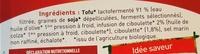 Tartine & moi comme un fromage Ciboulette & échalote Tofu - Ingrediënten - fr