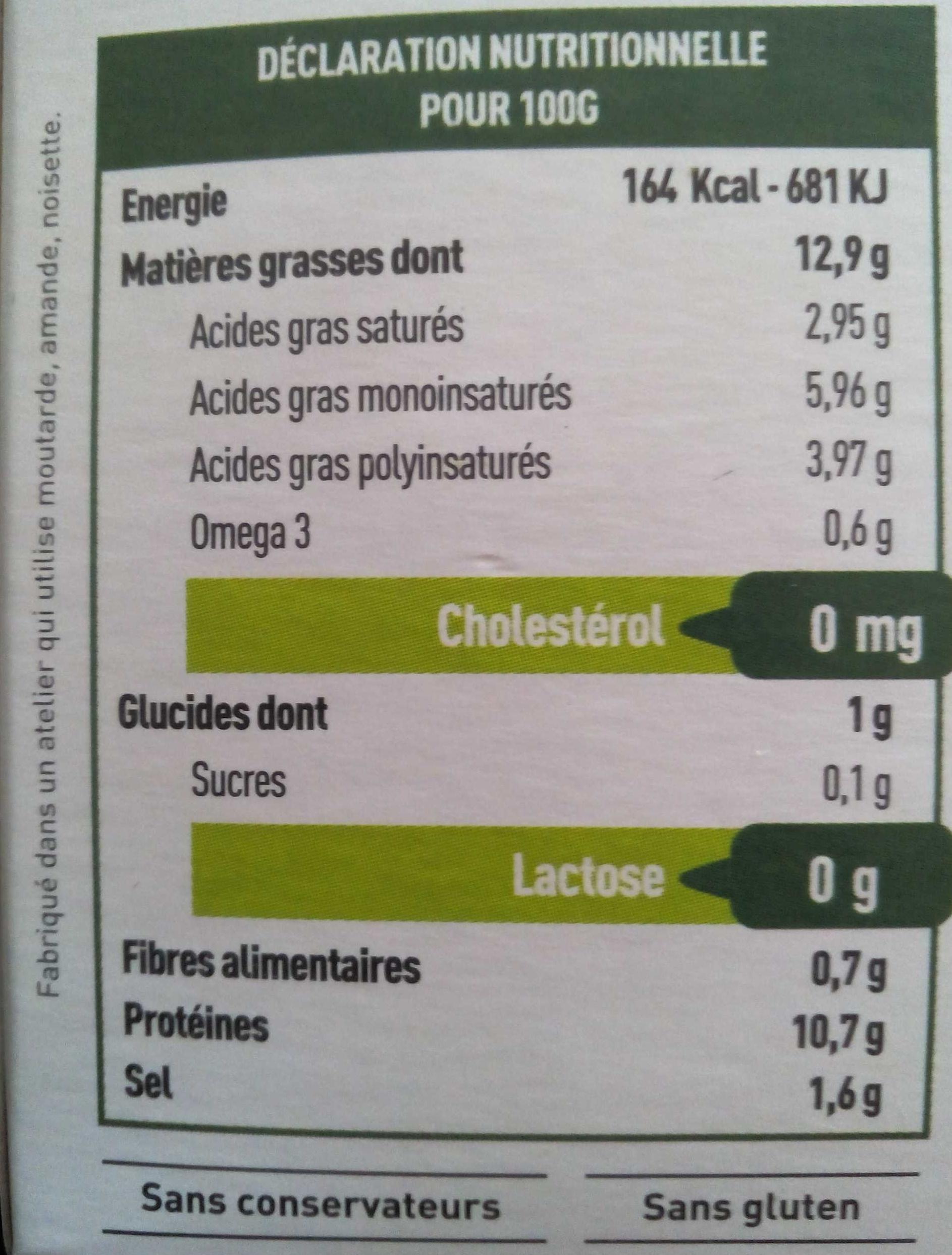 Tartine & moi ail et fines herbes - Voedingswaarden - fr