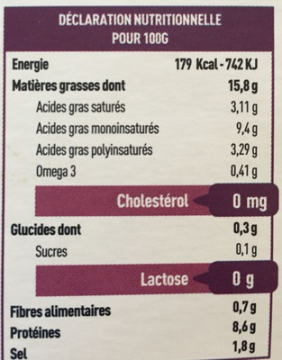 Tartine&moi Soja - Informations nutritionnelles - fr