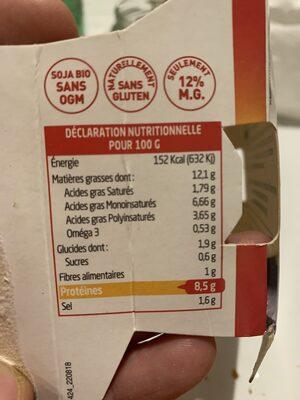 Sojami à tartiner Curry Paprika - Voedingswaarden - fr