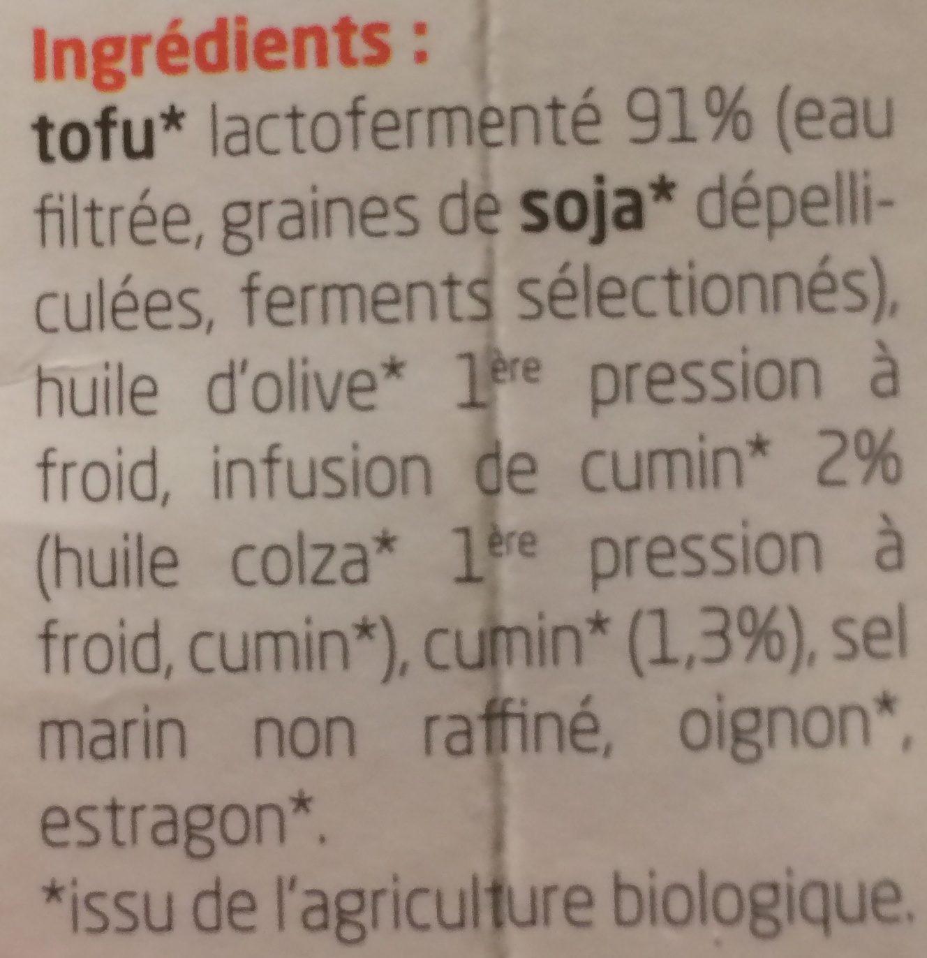 Cumin à tartiner - Ingrediënten - fr