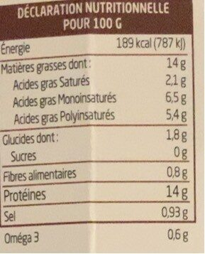 Cumin à tartiner - Voedingswaarden - fr