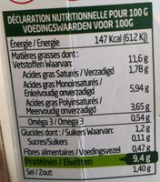 Ail & Fines Herbes - Informations nutritionnelles