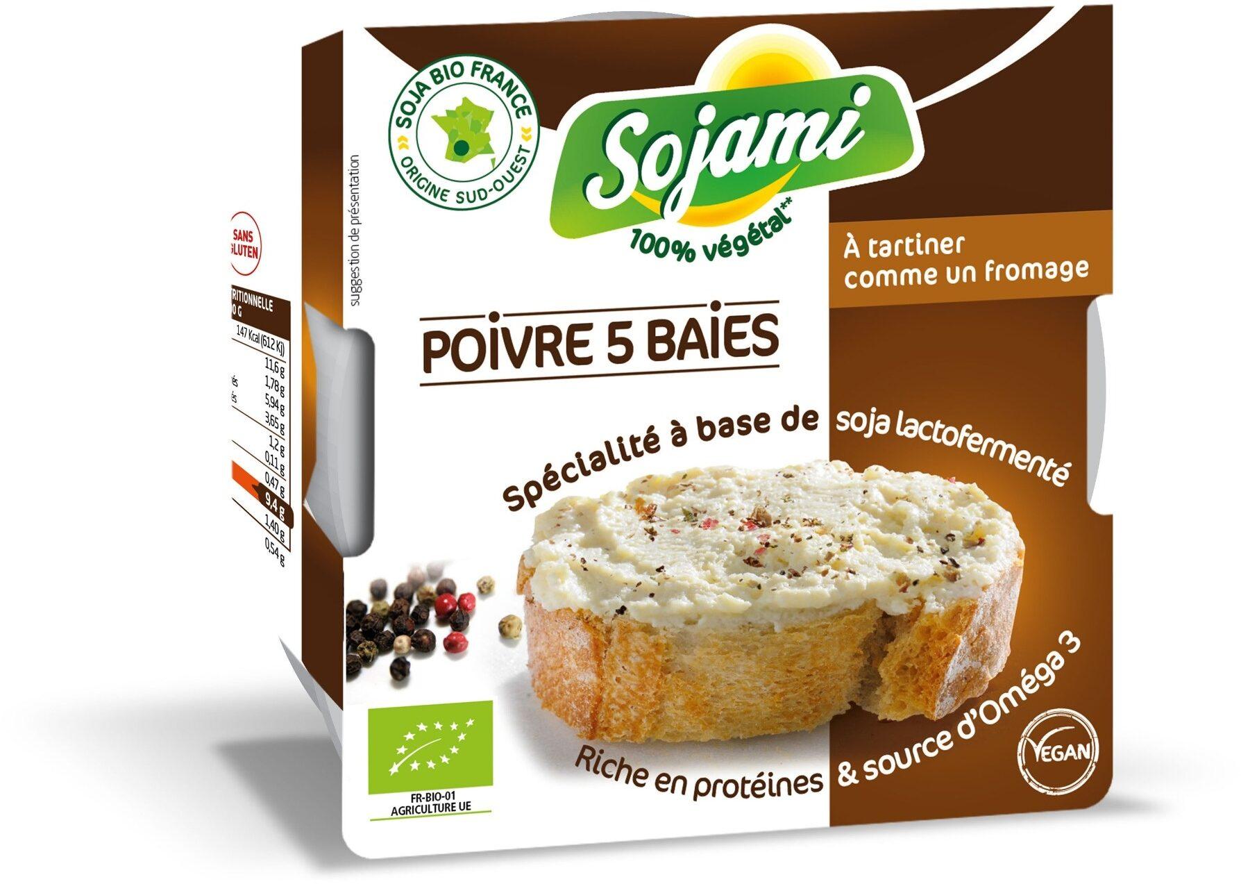 Sojami à tartiner Poivre 5 baies - Produit - fr