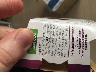 Sojami Apéritif Olives 125g - Ingredients