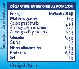 Sojami Cuisine - Nature - Voedingswaarden - fr