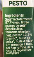 Tofu lactofermenté pesto - Ingrediënten - fr
