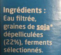 Tofu lactofermenté nature - Ingredients