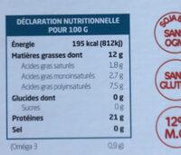 Tofu Lactofermenté Nature - Voedingswaarden - fr