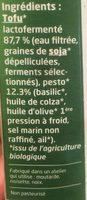 Tofu lactofermenté Pesto - Ingredienti - fr