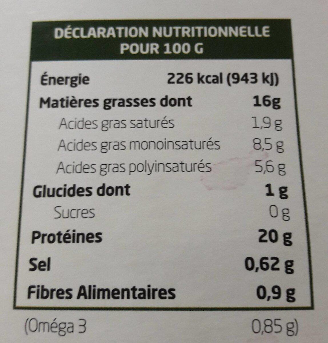 Tofu Ail Des Ours - Valori nutrizionali - fr