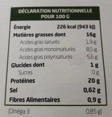 Tofu Lactofermenté Ail Des Ours - Voedingswaarden - fr